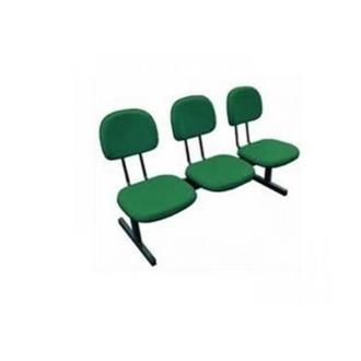 Imagem - Longarina Secretária 3 Lugares em Tecido Verde MQ05 Pethiflex cód: 1195