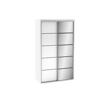 Imagem - Guarda Roupa 2 Portas com 1 Porta com Espelho TW104E Dalla Costa Branco Brilho cód: 1810