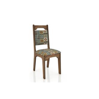 Imagem - Cadeira CA29 18mm Assento Estofado Dalla Costa Nobre/Ladrilho cód: 2344