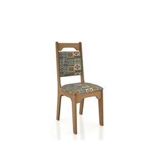 Imagem - Cadeira CA29 18mm Assento Estofado Dalla Costa Freijó/Ladrilho cód: 2346
