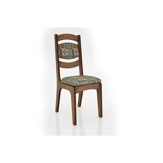 Imagem - Cadeira Alta 25mm Assento e Encosto Estofado CA27 Dalla Costa Nobre com Ladrilho cód: 2364