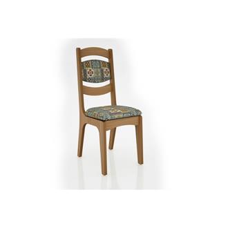 Imagem - Cadeira Alta 25mm Assento e Encosto Estofado CA27 Dalla Costa Freijó com Ladrilho cód: 2366