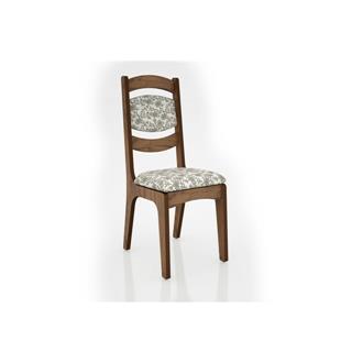 Imagem - Cadeira Alta 25mm Assento e Encosto Estofado CA27 Dalla Costa Nobre com Floral Claro cód: 2371