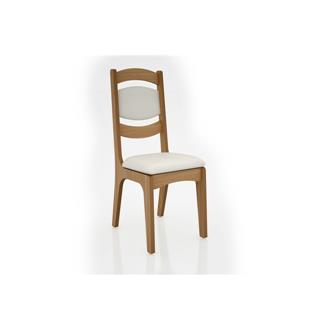 Imagem - Cadeira Alta CA27 25mm Assento e Encosto Estofado Dalla Costa Freijó/Linho Claro cód: 2373