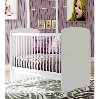 Imagem - Berço Bebê com Rodízio Sonequinha Light Bambinello Branco cód: 2388