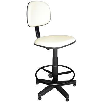 Imagem - Cadeira Caixa Giratória Realme em Couro Ecológico Branca cód: 461