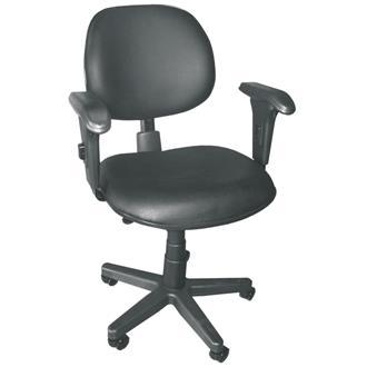 Imagem - Cadeira Executiva Realme Giratória c/Multi Regulagem em Couro Ecológico Preto cód: 463