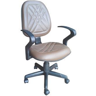 Imagem - Cadeira Executiva Alta Giratória CE-02GPBG Couro Ecológico Marrom CE508 Pethiflex cód: 465