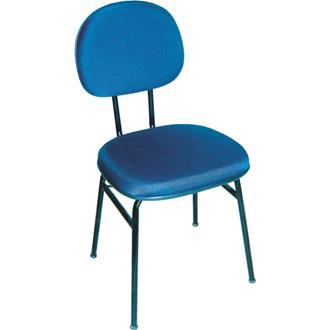 Imagem - Cadeira Fixa Realme 4 Pés em Tecido Azul cód: 466