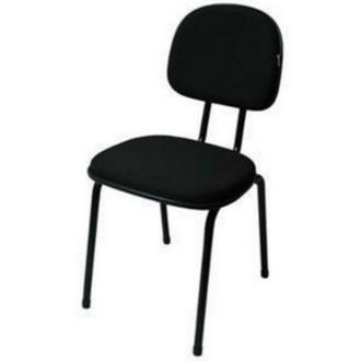 Imagem - Cadeira Fixa Realme 4 Pés Tecido Preto  cód: 469