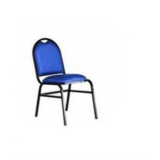 Imagem - Cadeira Fixa Realme Essencial Hot em Couro Ecológico Azul cód: 473