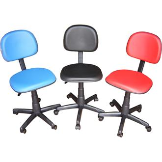 Imagem - Cadeira Secretária Giratória CS-02 em Couro Ecológico Preto CE250 Pethiflex cód: 503