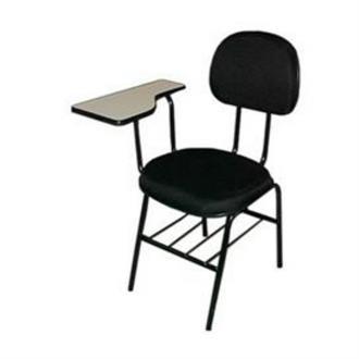 Imagem - Cadeira Universitária Uni-01 em Tecido Preto MQ14 Pethiflex cód: 509