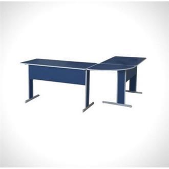 Imagem - Conjunto Mesa para Escritório Linha Basic Azul Pethiflex cód: 680