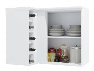 Imagem - Armário de Cozinha Aéreo Kappesberg G629 Canto Reto 1 porta Branco cód: 3105