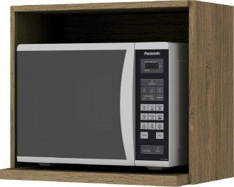 Imagem - Armário de Cozinha Aéreo Henn Microondas 60cm Rústico  cód: 3297