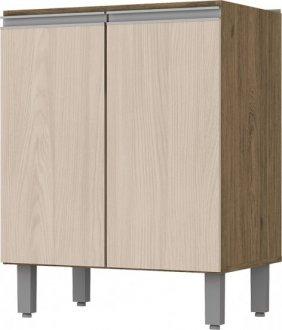 Imagem - Balcão de Cozinha Henn Integra 2 Portas 60cm Rústico com Fendi cód: 3304