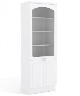 Imagem - Cristaleira Cozinha Kappesberg G612 4 portas Alto Branco cód: 3099