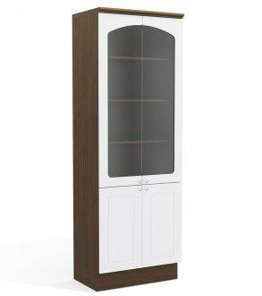 Imagem - Cristaleira Kappesberg Provenzza G612 4 Portas Alto Jacaranda com Branco cód: 3100