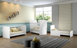 Imagem - Berço Mini Cama 3 em 1 Baby Soft Multimóveis 0504PN.156-Branco MDP cód: 36661