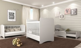 Imagem - Berço Mini Cama Baby Soft Multimóveis MDF 0502PA-156 Branco  cód: 37658