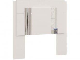 Imagem - Cabeceira Solteiro Box Castro Versátil C/Espelho Branco cód: 36355