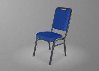 Imagem - Cadeira Fixa Hotel Grande 180G Dolimar Tecido Azul cód: 3350