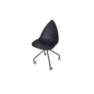 Imagem - Cadeira Pingo com Rodizio Falkk FL-023 Preto cód: 34608