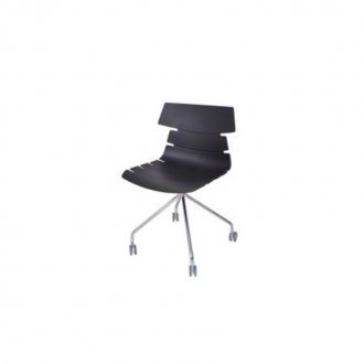 Imagem - Cadeira Ripe com Rodizio Falkk FL-022 Preto cód: 34605