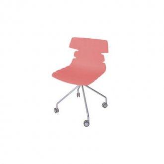 Imagem - Cadeira Ripe com Rodizio Falkk FL-022 Vermelha cód: 34606