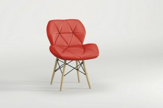 Imagem - Cadeira Slim Eiffel Notável Vermelha cód: 34213