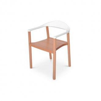 Imagem - Cadeira Wood Falkk FL-002 Branca cód: 34525