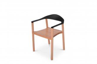Imagem - Cadeira Wood Falkk FL-002 Preta cód: 34527