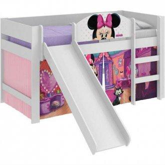 Imagem - Cama Minnie Disney Pura Magia Play C/Escorregador Branca cód: 35635