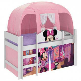 Imagem - Cama Minnie Pura Magia Disney Play c/Barraca Branca cód: 35636