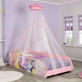 Imagem - Cama Princesa Pura Magia Disney Plus c/Dossel Teto Rosa cód: 35722