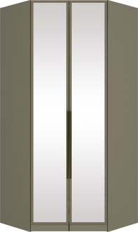 Imagem - Canto Closet Henn Exclusive 02 Portas de Espelho Duna cód: 35245