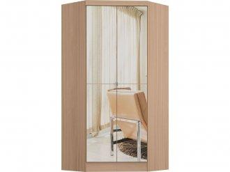 Imagem - Guarda Roupa Castro Infinity Canto Closet 02 Portas com Espelho Nogueira MDP cód: 35758