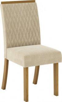 Imagem - Conjunto 02 Cadeiras Henn Vega Nature/Linho cód: 36898