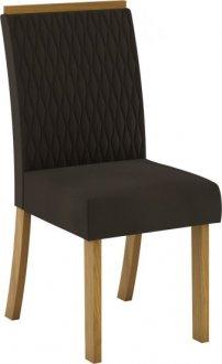 Imagem - Conjunto 02 Cadeiras Henn Vega Nature/Marrom cód: 36886