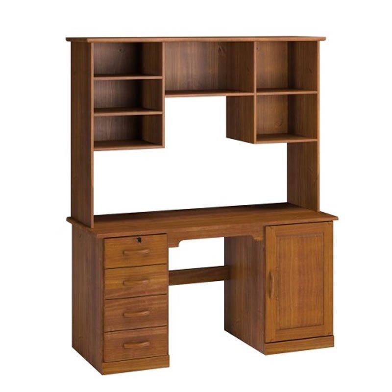 Imagem - Conjunto Office Estante 1906T + Escrivaninha 1904T Finestra em Madeira Imbuia cód: 36569