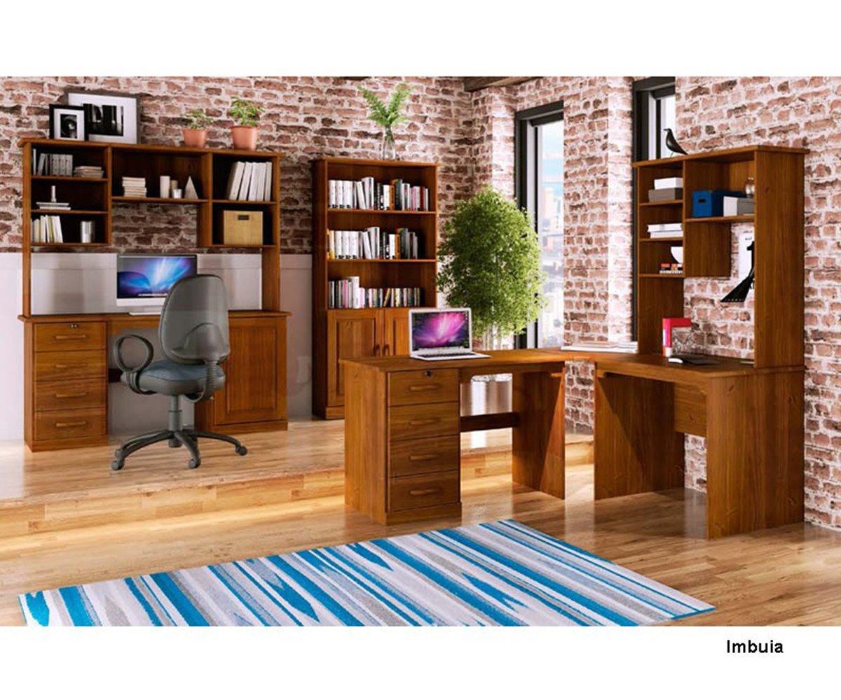 Imagem - Conjunto para Escritório Finestra Office Imbuia 7 Peças cód: