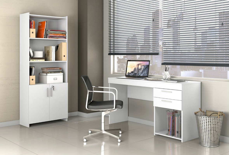 Imagem - Conjunto para Escritório Notável Office Branco cód: 36175