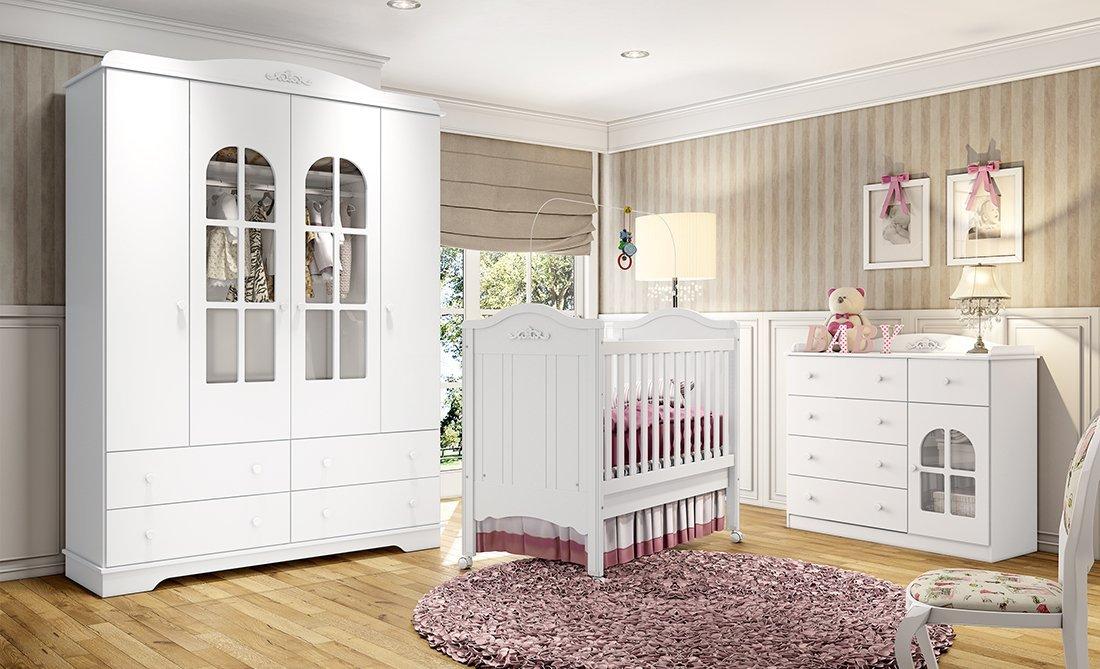 Imagem - Jogo de Quarto Infantil Henn Provençal Branco HP cód: 35695