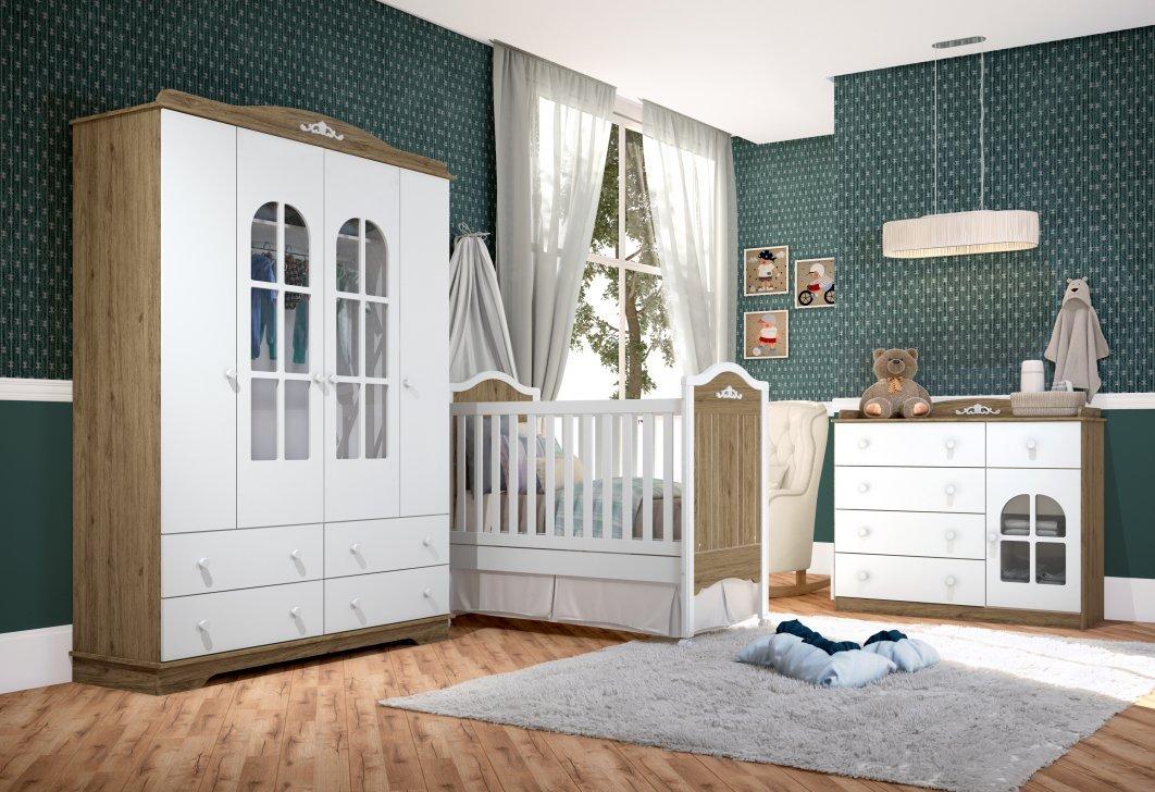 Imagem - Jogo de Quarto Infantil Henn Provençal Rústico com Branco HP cód: 35697