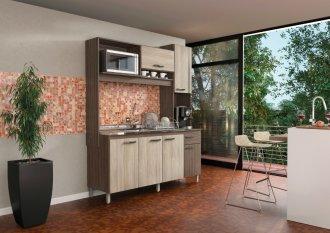 Imagem - Cozinha Compacta Móveis Sul 4576 Ariana 06 Portas Palermo e Aspen cód: 34526