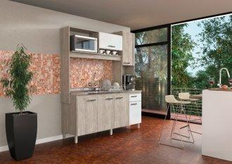 Imagem - Cozinha Compacta Móveis Sul 4576 Ariana 06 Portas Pérola e Branco Texturado  cód: 34524