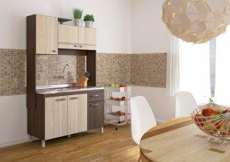 Imagem - Cozinha Compacta Móveis Sul 4591 Gabi 06 Portas 01 Gaveta Palermo e Aspen cód: 34530