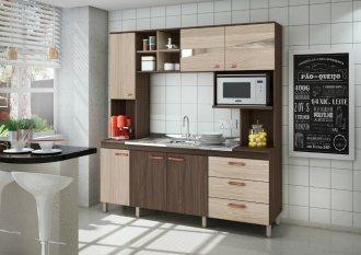 Imagem - Cozinha Compacta Móveis Sul 4708 Serena 06 Portas 03 Gavetas Palermo e Aspen  cód: 34511