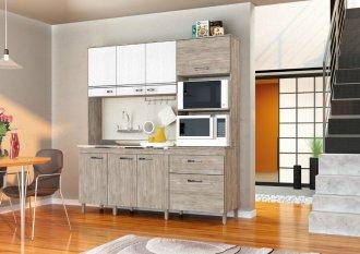 Imagem - Cozinha Compacta Móveis Sul 4723 Ingrid 07 Portas 02 Gavetas Pérola e Branco Texturado  cód: 34515